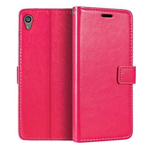 Capa carteira premium para Sony Xperia Z5, capa flip magnética de couro sintético premium com suporte para cartão e suporte para Sony Xperia Z5 Premium