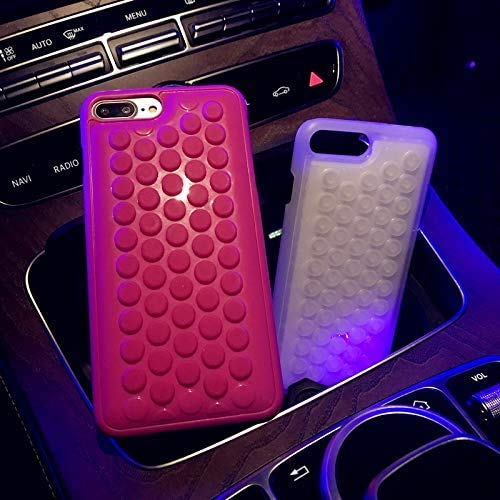 iPhone 8 Plus case iPhone 7 Plus case HHYCT Funny Cute Popping Decompression Bubble Wrap Back Soft Silicone Case Cover for iPhone 7/8 Plus 5.5 Inch (Pink)