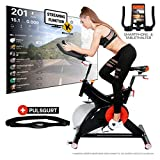 Miweba Sports Profi Indoor Cycling Bike MS500 Ergometer Heimtrainer - 25 Kg Schwungmasse - Pulsgurt...