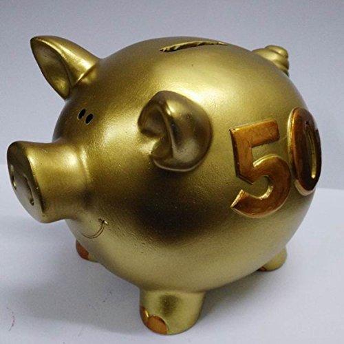 sehr schöne Sparschwein,Sparbüchse,Spardose goldene Hochzeit