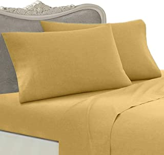 Egyptian Bedding Luxurious Rayon from Bamboo Sheet Set - King Gold 1200 Thread Count Cotton Sheet Set