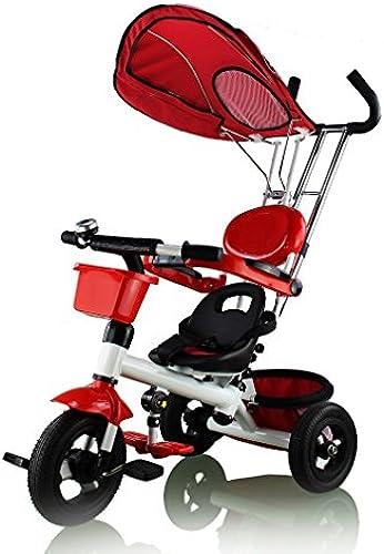 Kinder Dreirad Baby Trike Doppelte Funktion Kinderwagen ab 18 Monate bis 5 Jahre Kinderfürr r flüsterleise Gummireifen trtc115pi