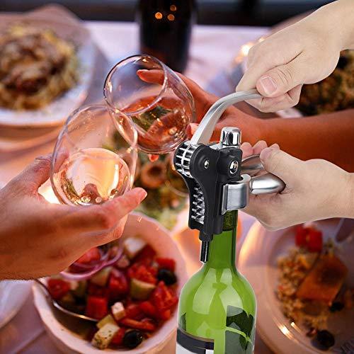 Alinory Abrebotellas de vino con anillo antigoteo, kit de herramientas de vino, herramienta de tornillo de vino, abridor de botellas de corcho tapón de vino para el hogar