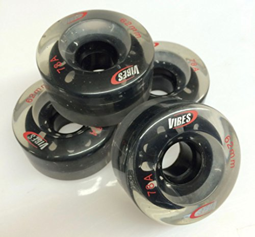 Vibes Skate-/Longboard 4 Stück Rollenset 62 x 33 mm