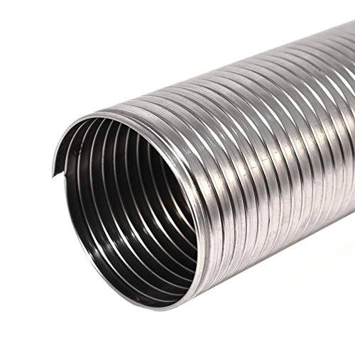 Tubo flessibile corrugato in acciaio inox per canna fumaria (DN 120 mm L 1 m)