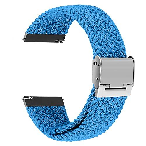 Correa universal de interfaz ancha Sunbose de 22 mm, estilo vers¨¢til, adecuada para muchas marcas de relojes inteligentes como Samsung, Huawei o Xiaomi.£¨Cielo azul£