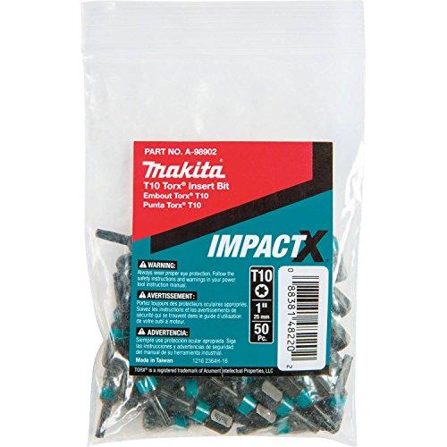Makita ImpactX T10Torx 1″ Insertar Bits, A-98902 0 wattsW, 0 voltsV