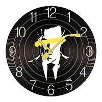 掛け時計 木製 シャーロック・ホームズ ウォールクロック 壁掛け時計 アナログ おしゃれ 装飾 北欧 連続秒針 静音 壁掛け時計 掛時計 モダン インテリア 大数字 見やすい 電池式 自宅 寝室 部屋飾り 贈り物 直径25/30cm プレゼント レトロなスタイル