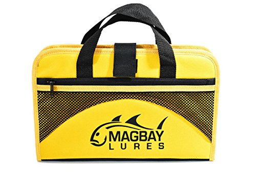 MagBay Lures Jig Bag, Fishing Jig Storage - 25 Pocket (Yellow)