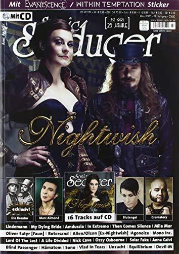 Sonic Seducer 03-2020 Nightwish + Song auf CD-Beilage, Within Temptation / Evanescence-Sticker, exklusiv Die Kreatur (feat. Lord Of The Lost + Oomph!), Blutengel, Lindemann, Marc Almond, In Extremo