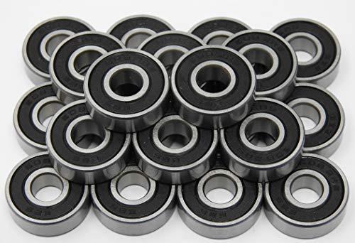 20 Stück Kugellager 608 2RS / 8 x 22 x 7 mm, Rillenkugellager