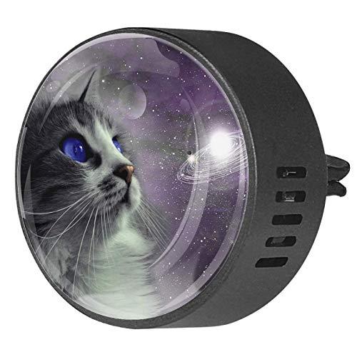 2 uds difusor de aromaterapia difusor de aceite esencial para coche Clip de ventilación galaxy space animal cat