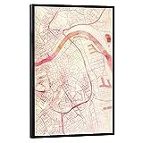 artboxONE Poster mit schwarzem Rahmen 75x50 cm Städte Linz