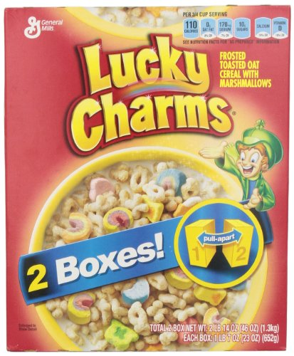 General Mills Cereal, Lucky Charms, 46 Ounce