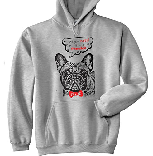 teesquare1st French Bulldog Frenchie All You Need Sudadera con Capucha Size...