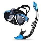 Cadrim Perfecto 180°Máscara de Buceo,mascarilla facial panorámica para Snorkel con...