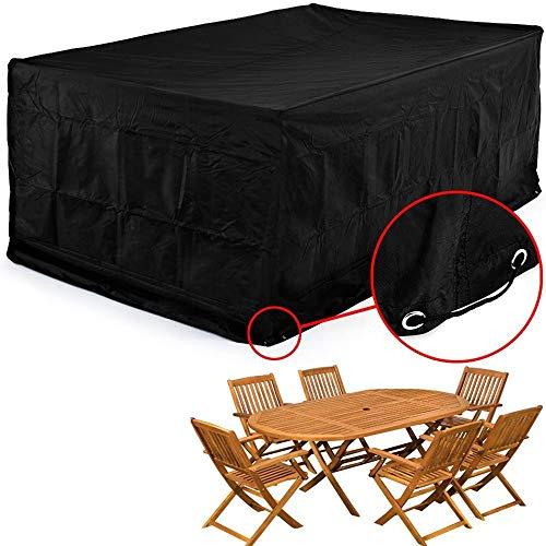 FCZBHT Couverture de Meubles Pare-poussière Extérieur, Tissu Oxford, Patio Imperméable Couverture De Meubles, Couverture Anti-Gel, Noir Garde poussière (Couleur : Noir, Taille : 250 * 250 * 90CM)