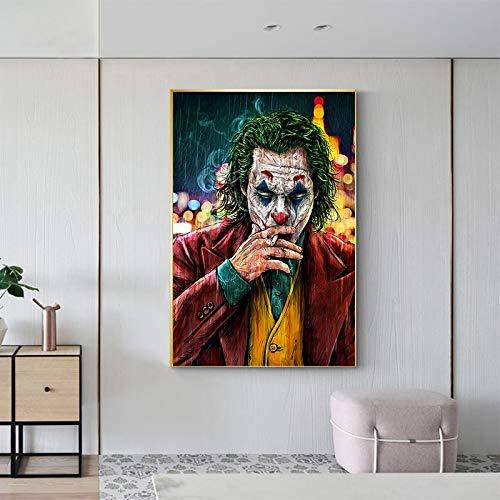 baodanla Movie Star The Joker Öl Leinwand Malerei Drucke Witz Kunst Malerei Wandbilder für Wohnzimmer Home Decor40x60cm(Kein Rahmen)