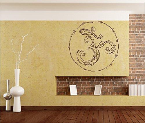 Sticker mural OM Ohm caractères dans 33 couleurs mat ou brillant autocollant Mandala Yoga Sticker mural 60 cm - Rose mat