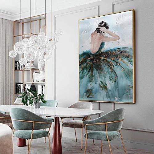 fdgdfgd Mujer Elegante Lienzo Pintura Estatua Abstracta Carteles de Pared e Impresiones Sala de Estar Moderna decoración del hogar