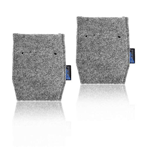 BCP Light Gray Color 2-Piece Pocket Square Card Holder for Man's Suits