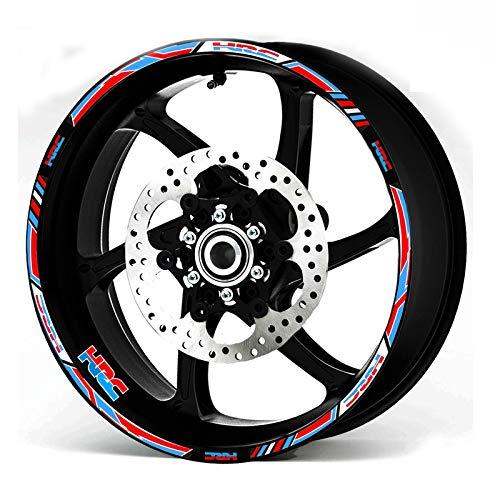 Powefer Motorcycle Wheel Decals Reflective Stickers Rim Stripes 17inch for Honda Racing HRC CBR250RR CBR400RR CBR600RR CBR1000RR