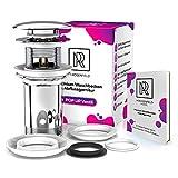 Premium Ablaufgarnitur Waschbecken Abflussgarnitur – mit Überlauf für Waschbecken &