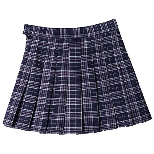 Falda plisada para otoño e invierno azul XXXL