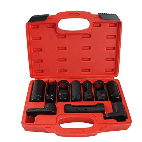 CCLIFE 10tlg Lambdasonden Schlüssel Lambdasonde Nuss Steckschlüssel Werkzeug Lambdasonden-Einsatz