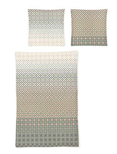 Irisette Mako-Satin Bettwäsche EOS Cumbernauld grau 1 Bettbezug 135x200 cm + 1 Kissenbezug 80x80 cm