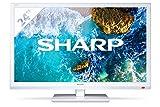 Sharp LC-24CHF4012EW tv 24'' bianco HD Ready, Active Motion 100, DVB-T/T2/C/S2