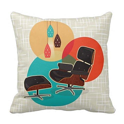 Eames Lounge stoel midden eeuw ontwerpers Tribute kussensloop 18