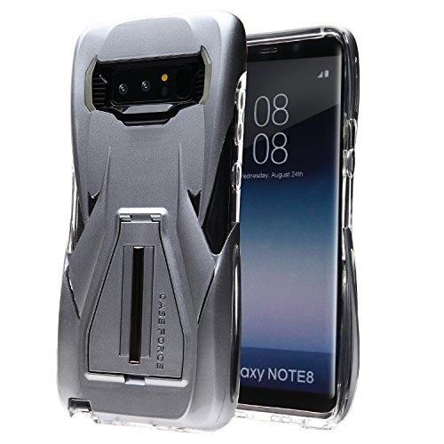 【GADIEL】 Galaxy Note8 耐衝撃 ケース 落下 衝撃に強い 保護カバー Samsung ギャラクシーをがっちりガード 衝撃吸収バンパー Velocity シリーズ (Silver)