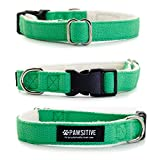 hemp and organic cotton adjustable dog collar