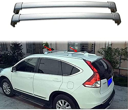 2 Piezas Coche Bacas y portaequipajes para Honda CRV CR-V 2012-2016, Capacidad Carga Accesorios Estilo Transversal del Portabicicletas