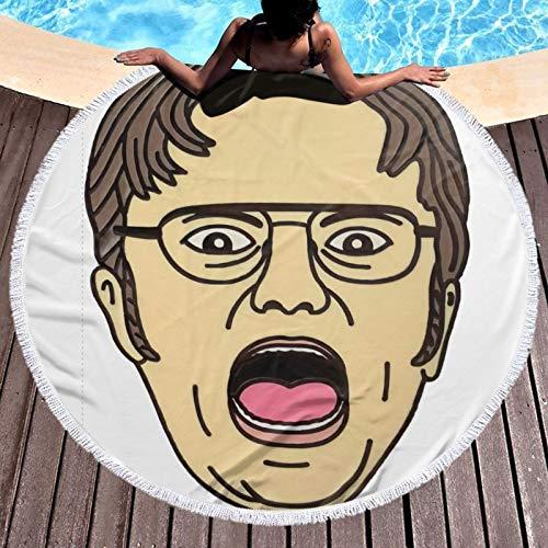 Dw-ight Sc-hrute Toalla de baño de microfibra extra grande para natación, spa, viajes, yoga, deportes, camping, tumbonas o ducha