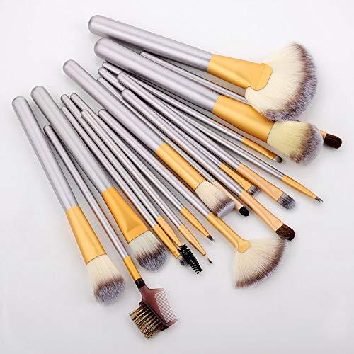 Mango de madera Profesional Brochas de Maquillaje Set Mujeres Cara Sombra de Ojos Cosméticos Delineador de ojos Herramientas Maquillaje Kit 18pcs