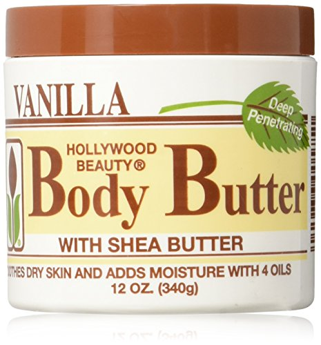 Hollywood Beauty Body Butter with Shea Butter and Vitamin E, 12 Ounce by Hollywood Beauty