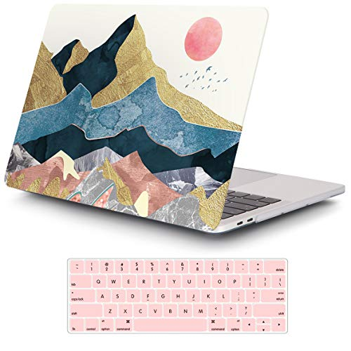 iCasso MacBook Pro 13 inch Case 2019 2018 2017 2016 Release A2159/A1989/A1706/A1708, Plastic Hard Shell Case with 5 Rows Keyboard Cover Compatible Newest MacBook Pro 13'- Abstract Scenery