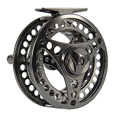AnglerDream EX-ALC Fly Reel 3/4 5/6 7/8 9/10WT CNC Machined Aluminum Fly Fishing Reel Silver/Gunsmoke Fly Reels