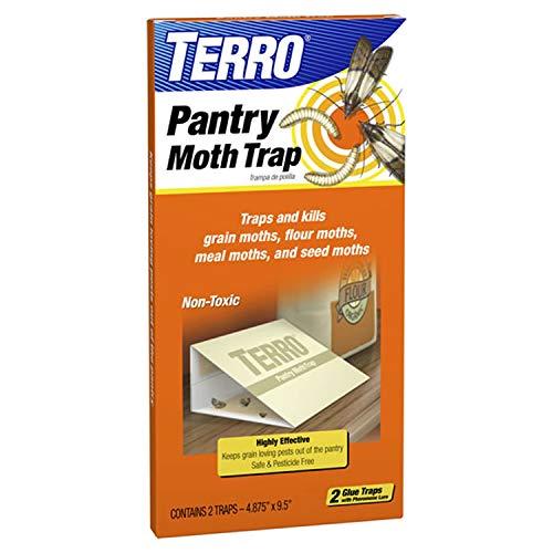 TERRO T2900 2-Pack Pantry Moth Traps - Traps grain moths, flour moths, meal moths, and seed moths