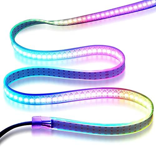 waves LEDテープライト 1M 白 ネオピクセル WS2812B 144LED 5V IP67 シリアルLED アドレッサブル アドレッサブルLED (ホワイト防水)