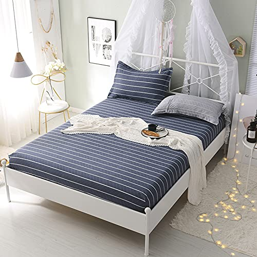 YDyun Protector de colchón Transpirable.Rizo Bambú. Colcha de algodón de una Pieza Antideslizante y a Prueba de Polvo