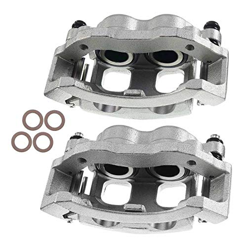 A-Premium Brake Caliper Assembly Compatible with Ford F-150 F-250 Expedition Lincoln Navigator Front Driver and Passenger Side 2-PC Set