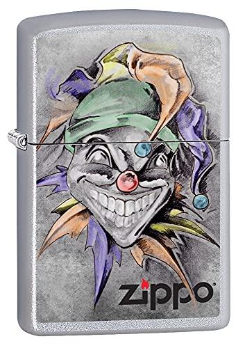 Zippo Zippo Feuerzeug 60002718 PL Joker Benzinfeuerzeug, Messing, Satin Chrome, 1 x 3,5 x 5,5 cm Satin Chrome