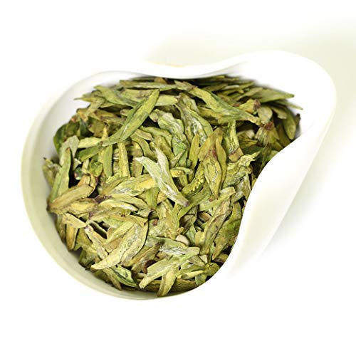 GOARTEA 100g (3.5 Oz) Organic Nonpareil Supreme West Lake Xi Hu Xihu Dragon Well Long Jing Longjing Spring Leaf Chinese GREEN TEA Tee