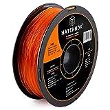 HATCHBOX ABS 3D Printer Filament, Dimensional Accuracy +/- 0.03 mm, 1 kg Spool, 1.75 mm, Transparent Orange