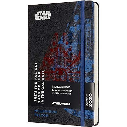 Moleskine Agenda Giornaliera 12 Mesi 2020 Star Wars Special Edition Millenium Falcon con Copertina Rigida e Chiusura ad Elastico, Dimensione Large 13 x 21 cm, 400 Pagine