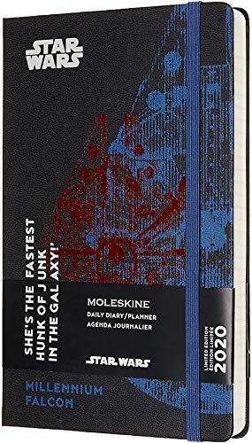 Moleskine - Agenda de 12 Meses para 2020 Star Wars Edición Especial Halcón Milenario con Tapa Dura y Cierre Elástico, Tamaño Grande 13 x 21 cm, 400 Páginas (AGENDA 12 MOIS EDT LIMITEE)