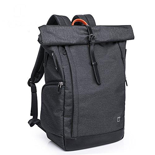 Wasserdicht Laptop Rucksack 15,6 zoll für Männer und Frauen - Mfshiye Diebstahlsicherung Tagesrucksack Schulrucksack College-Rucksack,große Kapazität 30L (Schwarz)